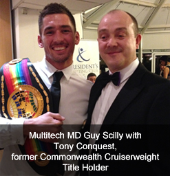 Multitech MD Guy Scilly with boxer Tony Conquest