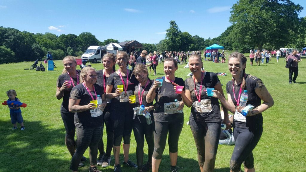 The Multitech Site Services Cancer Research UK Muddy 5K Team 2017