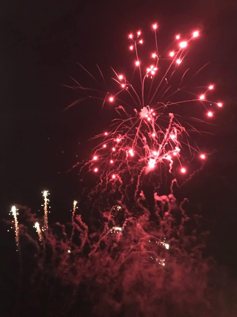 Fireworks at Great Dunmow 2017