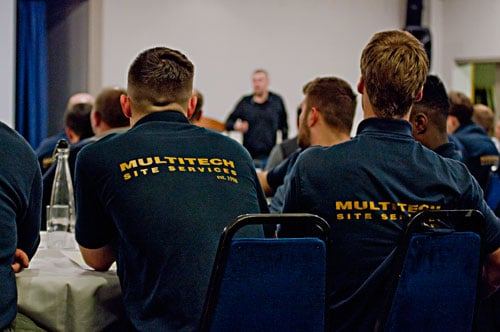 Dylan Skelhorn Guest Presenter at the Multitech Site Services 2018 Safety Conference