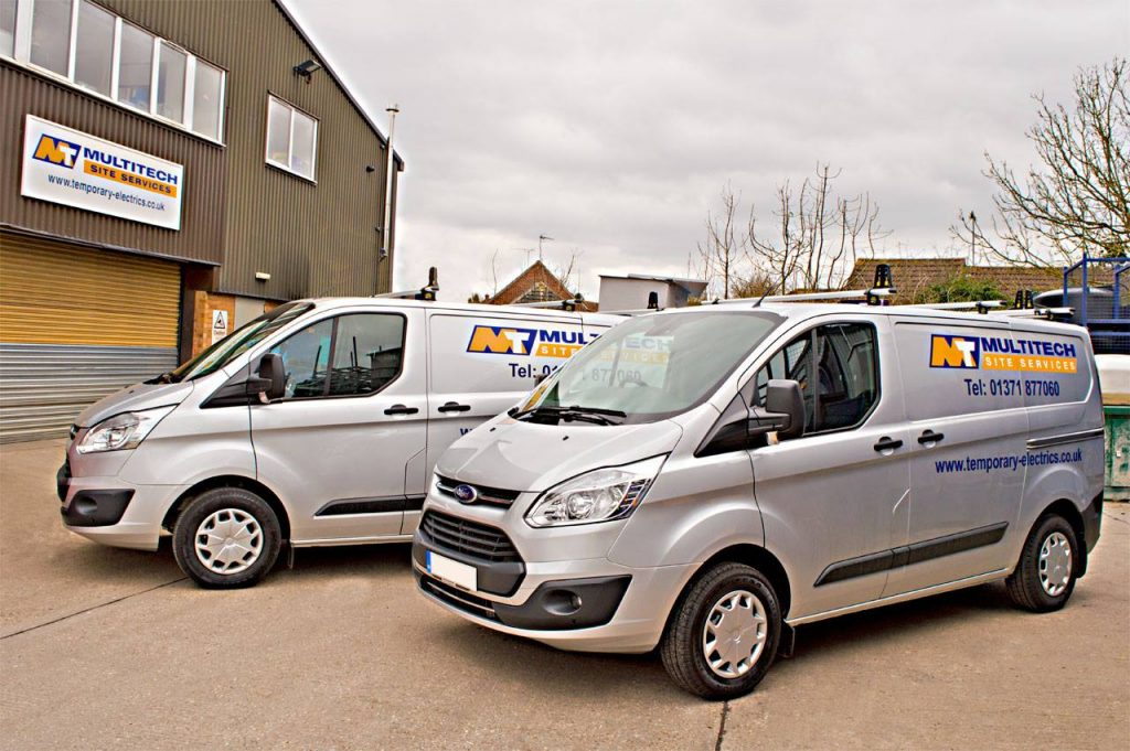 New Multitech Vans, a £350k investment to replace older vehicles in the fleet